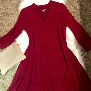Francesca's Collections Dresses - Maroon Midi Dress From Francesca's 🍂